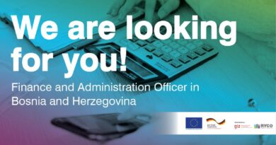 RYCO is Hiring: Finance and Administration Officer in BiH